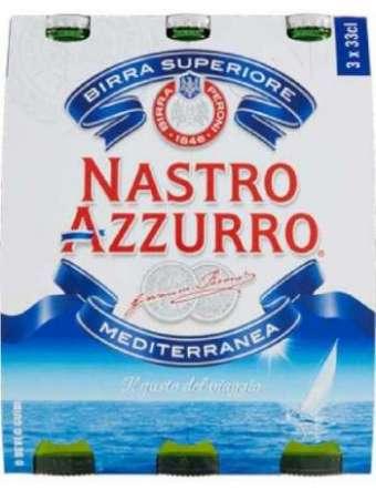 BIRRA NASTRO AZZURRO 3X33 CL