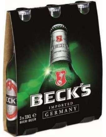 BECK'S BIRRA 3X33 CL