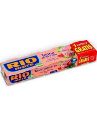 RIO MARE TONNO OLIO D'OLIVA GR 120 X 3+1 GRATIS