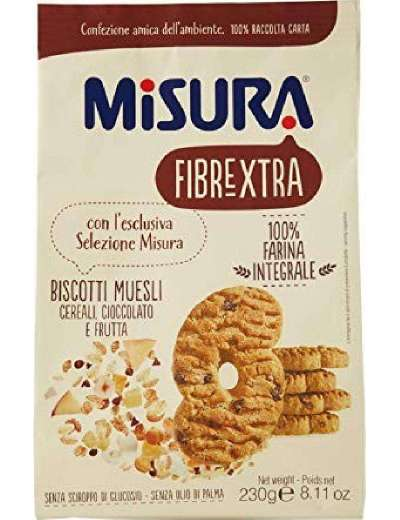 MISURA BISCOTTI MUESLI FIBRE GR 230