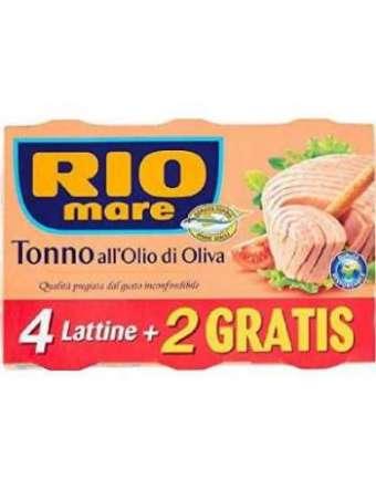 RIO MARE OLIO D'OLIVA 4+2X80 TONNO GR 480
