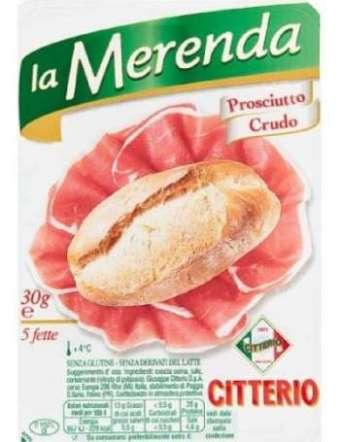 CITTERIO MERENDA PROSCIUTTO CRUDO GR 30