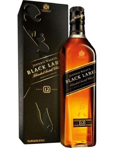 WHISKY JOHNNIE WALKER BLACK LABEL 70 CL