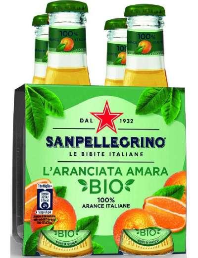 SANPELLEGRINO BIO AMARA ARANCIATA 4X20 CL
